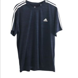 Adidas climalite blue short sleeve shirt